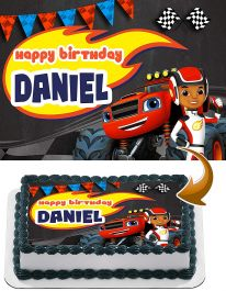 Blaze and The Monster Machines Edible Cake Topper