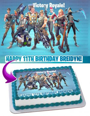 Fortnite Royale Battle Edible Image Personalized Birthday Sheet Decoration Custom Party Frosting Transfer Fondant