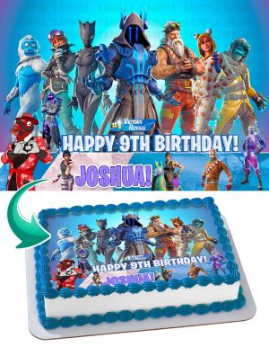 Fortnite #1 Victory Royale Edible Image Cake Topper Personalized Birthday Sheet Decoration Custom Party Frosting Transfer Fondant