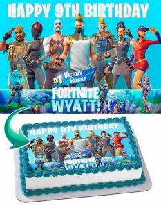 Fortnite Battle Royal Edible Image Cake Topper Personalized Birthday Sheet Decoration Custom Party Frosting Transfer Fondant 2B