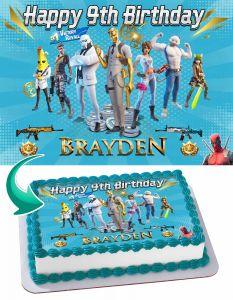 Fortnite Chapter 2 Season 2 Edible Image Cake Topper Personalized Birthday Sheet Decoration Custom Party Frosting Transfer Fondant