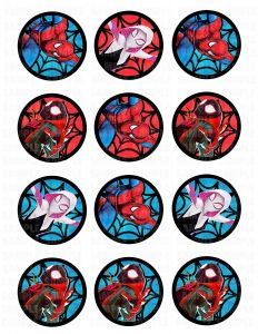 Spider Man Into the SpiderVerse Edible Image Cupcake Cookie Topper
